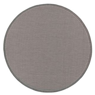 Recife Saddle Stitch Grey Rug (76 Round) (GreySecondary colors WhitePattern StripeTip We recommend the use of a non skid pad to keep the rug in place on smooth surfaces.All rug sizes are approximate. Due to the difference of monitor colors, some rug co