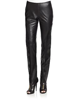 Pauline Leather Pants   Jet