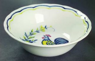 Nikko Early Bird Coupe Cereal Bowl, Fine China Dinnerware   Ironstone, Blue&Gree