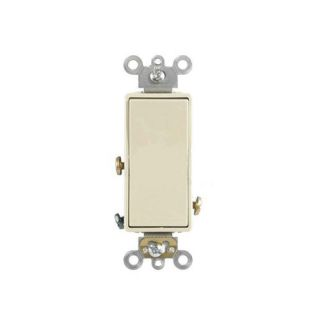 Leviton 56212A Light Switch, Decora Plus Rocker Switch, Commercial Grade, 20A, SinglePole Almond
