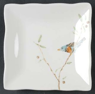222 Fifth (PTS) Early Bird Appetizer Plate, Fine China Dinnerware   Bird On Bran
