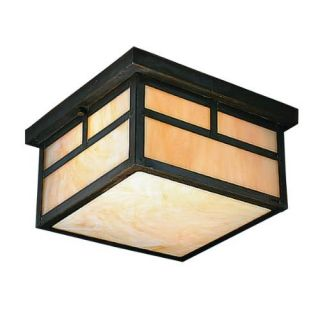 Kichler 9825CV Outdoor Light, Arts and Crafts/Mission Flush Mount 2 Light Fixture Canyon View