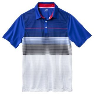 C9 by Champion Mens Advanced Striped Golf Polo Shirt   Athens Blue S
