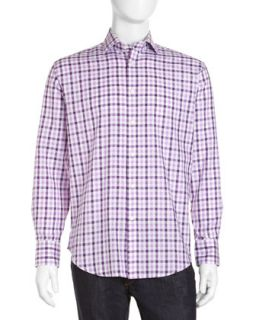 Large Check Sport Shirt, Lilac
