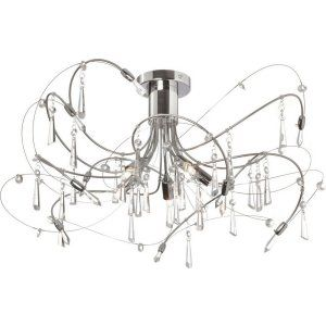 Dainolite DAI 158 18SF PC Universal 5 Light Crystal Semi Flush Fixture