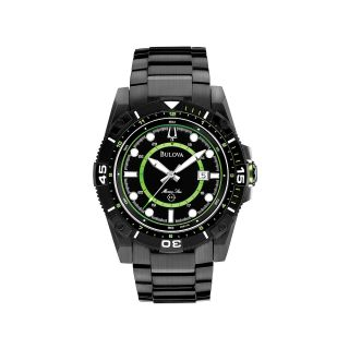 Bulova Marine Star Mens Black & Lime Sport Watch