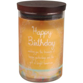 Woodwick Inspirational Happy Birthday Candle, Peach