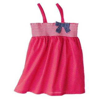 Circo Infant Toddler Girls Polka Dot Swim Cover Up Dress   Red 2T