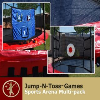 Skywalker Kids Trampoline Jump n Toss Multi Sports Arena Game with Enclosure