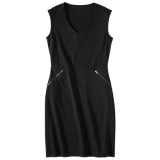 Mossimo Womens Ponte Sleeveless Dress w/ Zippered Pockets   Black XXL