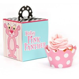 Baby Pink Panther Cupcake Wrapper Combo Kit