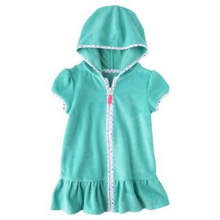 Circo Infant Toddler Girls Hooded Cover Up Dress   Turquoise 18 M