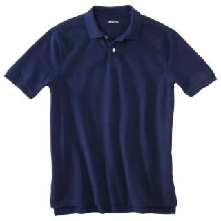 Mens Classic Fit Polo Shirt Navy Blue Vyg LT