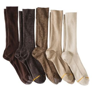 Auro a Gold Toe Brand Mens 5pk Dress Socks   Assorted Khaki