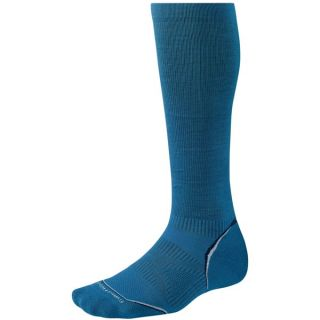 SmartWool 2013 PhD Graduated Compression Socks   Lightweight  Merino Wool (For Men and Women)   ARCTIC BLUE (L )