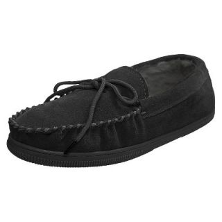 Mens Bosto Faux Suede Slippers Black 12
