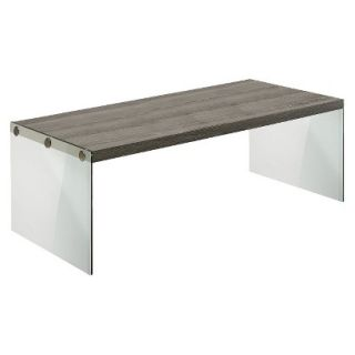 Coffee Table Monarch Specialties 2 Piece Nesting Table Set   Dark Taupe