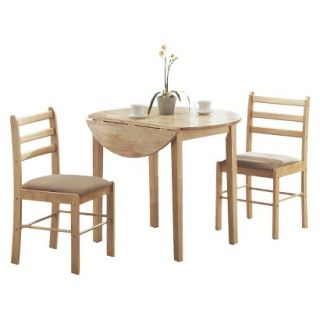 Dining Table Set Monarch Specialties Drop Leaf Dining Table Set   Natural (Set