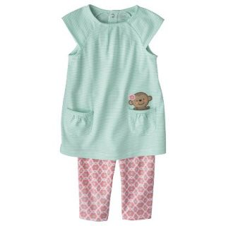 Just One YouMade by Carters Toddler Girls 2 Piece Set   Light Blue/Pink 5T