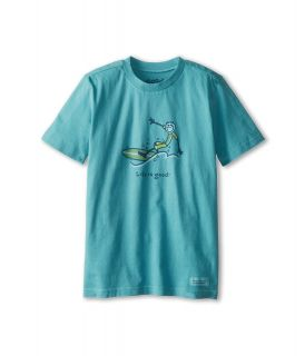 Life is good Kids Crusher Surf Wave Tee Boys T Shirt (Blue)