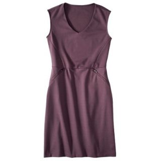 Mossimo Womens Ponte Sleeveless Dress w/ Zippered Pockets   Berry Lacquer L