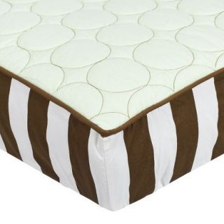 Green/Chocolate Quilted Changing Pad Cover