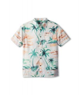 Rip Curl Kids Dream Vacay S/S Shirt Boys Short Sleeve Button Up (Orange)