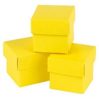 Yellow Mix & Match Favor Boxes   25ct