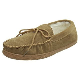 Mens Bosto Faux Suede Slippers Hickory 10