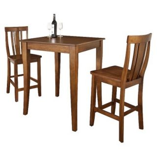 Dining Table Set Crosley Cabriole Leg Pub Table Set   Red Brown (Cherry) (Set