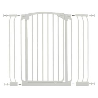 Dreambaby Chelsea Xtra Tall Auto Close Security Gate with Extensions   White