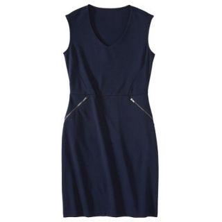 Mossimo Womens Ponte Sleeveless Dress w/ Zippered Pockets   Xavier Navy XS