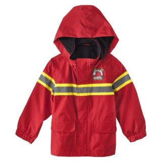 Just One You by Carters Infant Toddler Boys Fire Rescue Raincoat   Red 3T