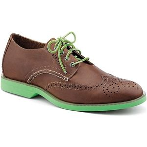 Sperry Top Sider Mens Boat Oxford Wingtip Tan Green Shoes, Size 8.5 M   10509505
