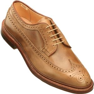 Alden Mens Long Wing Natural Chrome Excel Shoes, Size 9 D   97873