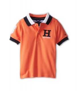 Tommy Hilfiger Kids Matt Polo Boys Short Sleeve Pullover (Orange)