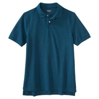 Mens Classic Fit Polo Shirt Atlantis blue turquoise XL