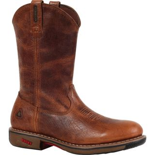 Rocky Ride 11In. Waterproof Western Boot   Palomino, Size 9 Wide, Model 4181