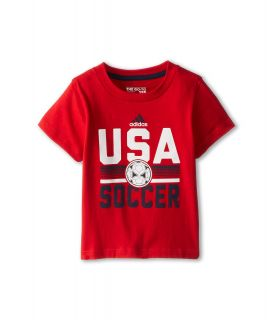 adidas Kids USA Tee Boys T Shirt (Red)