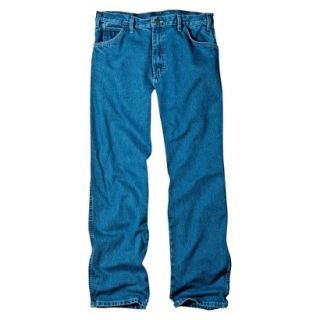 Dickies Mens Relaxed Fit Jean   Stone Washed Blue 50x30