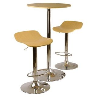 Bar Height Table Set Winsome Kallie Pub Table with 2 Adjustable Stools