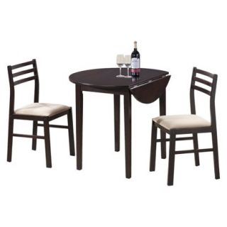 Dining Table Set Monarch Specialties Drop leaf Dining Table Set   Cappuccino