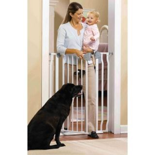 GuardMaster IV 420 Extra Tall Steel Baby and Pet Gate with Alarm