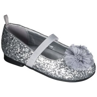 Toddler Girls Genuine Kids from OshKosh Glitter Ballet Flats   Silver 8