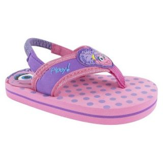 Toddler Girls Abby Cadabby Flip Flop Sandals   Pink 4