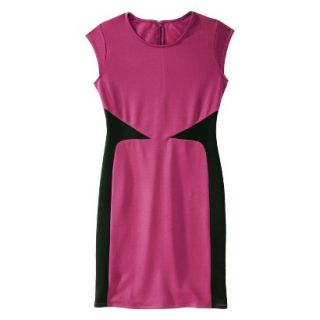 Mossimo Womens Colorblock Scuba Dress   Sangria/Black M