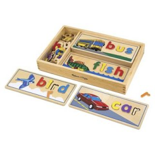 Melissa & Doug Deluxe Wooden See and Spell Set