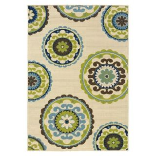 Samantha Medallion Indoor/Outdoor Area Rug (53x76)