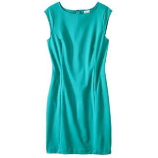 Merona Petites Sleeveless Ponte Sheath Dress   Coastal Green XLP