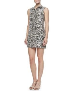 Womens Lucida Leopard Print Silk Dress   Equipment